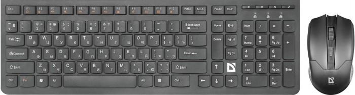 Фото - Аксессуары для компьютера Defender Комплект беспроводной клавиатура и мышь Columbia C-775 клавиатура и мышь defender dakota c 270 black usb