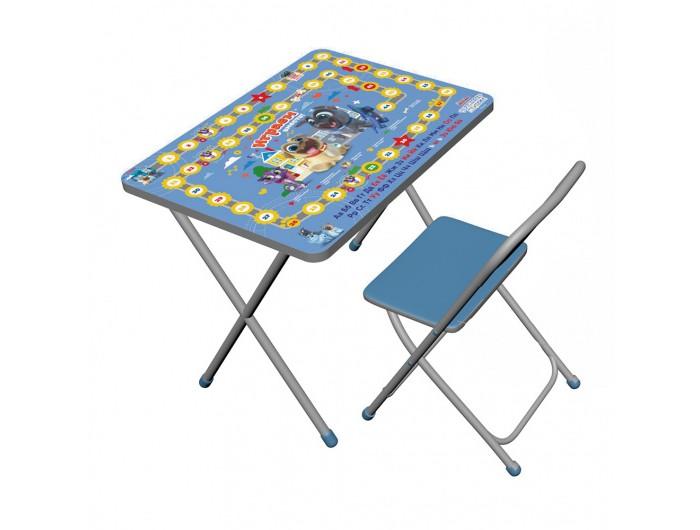 Картинка для Детские столы и стулья Дэми Набор мебели Дружные мопсы