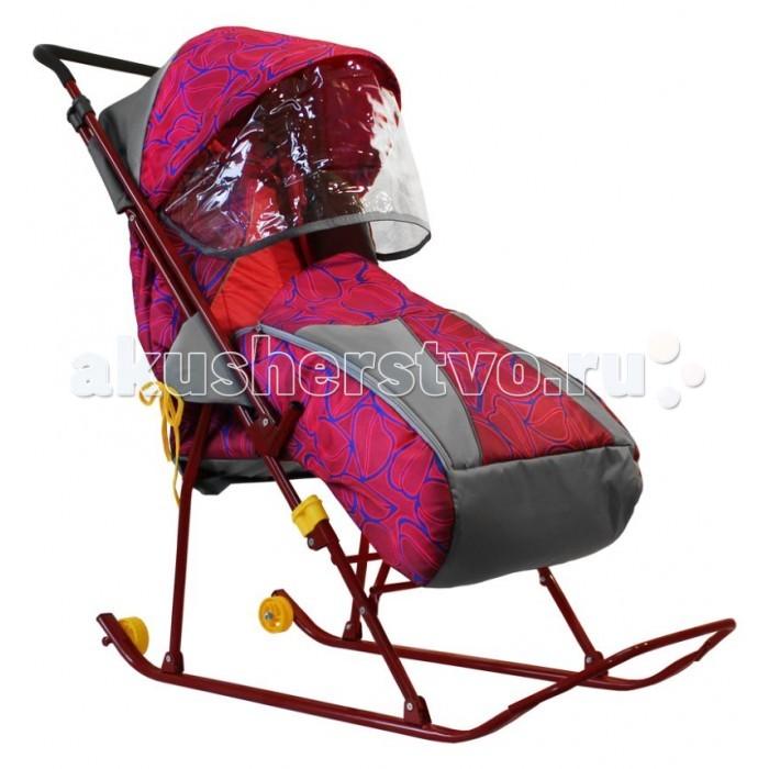 Зимние товары , Санки-коляски Galaxy Снежинка премиум арт: 385009 -  Санки-коляски