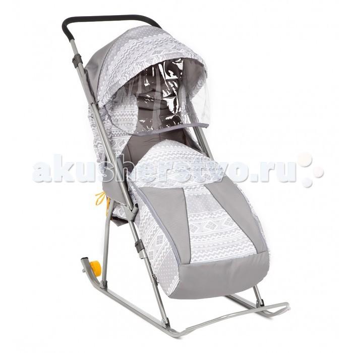 Санки-коляски Galaxy Снежинка премиум