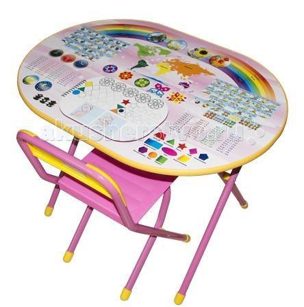 Детские столы и стулья Дэми Набор мебели №УЗ-01 Овал Весёлая ферма