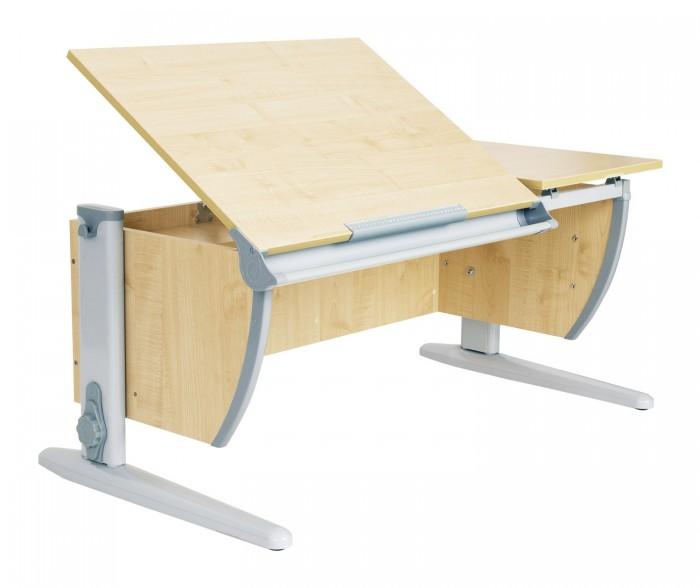 Дэми Стол универсальный трансформируемый СУТ.17 (столешница клен)Стол универсальный трансформируемый СУТ.17 (столешница клен)Дэми Стол универсальный трансформируемый СУТ.17 (столешница клен) - это модель с раздельной столешницей без подвесной тумбы и задних приставок.   Детская парта Деми СУТ 17 подойдет, если Вам не нужна задняя приставка или вы хотите сэкономить пространство в детской комнате. Размер столешницы в глубину без приставки - 55 см.  Особенности: Для детей ростом от 110 до 198 см. Регулировка угла наклона столешницы. Раздельная столешница 75х55 см и 43х55 см. Желоб для канцелярских принадлежностей.<br>