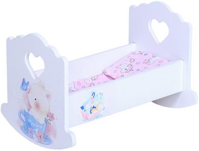 Кроватки для кукол PeMa Kids люлька Котёнок с постельным бельём 30 см