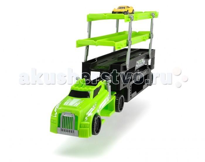 Машины Dickie Автовоз пятиуровневый с одной машинкой машины технопарк набор автовоз с машинкой 15 см