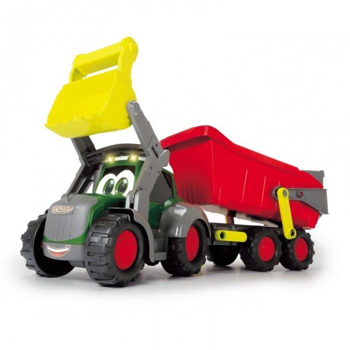 Машины Dickie Трактор Happy Farm трейлер 65 см