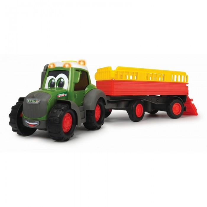 Машины Dickie Трактор Happy Fendt с прицепом для перевозки животных 30 см машина пластиковая dickie 3737000 трактор fendt с прицепом 41см свет звук