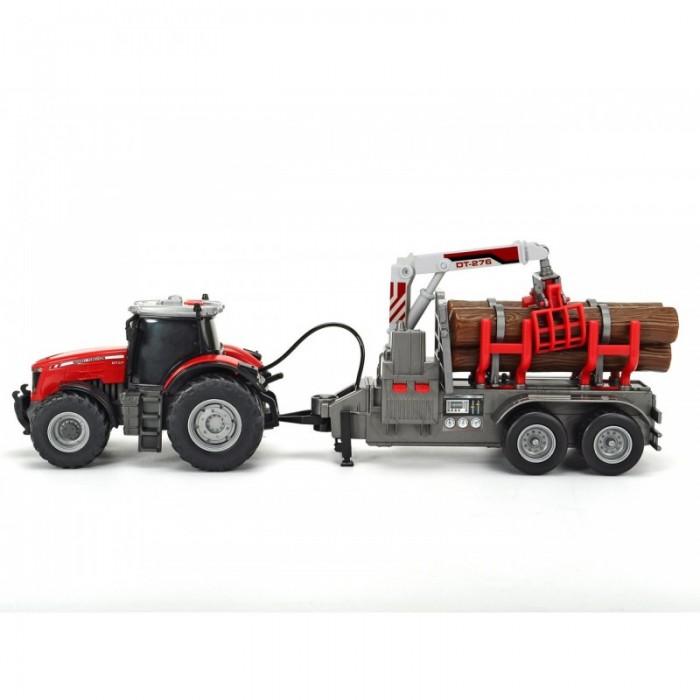 цена на Машины Dickie Трактор с прицепом Massey Ferguson фрикционный 8737 42 см