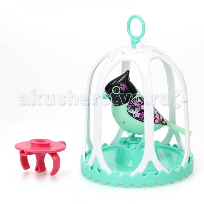 Интерактивные игрушки Digibirds Птичка с большой клеткой и кольцом