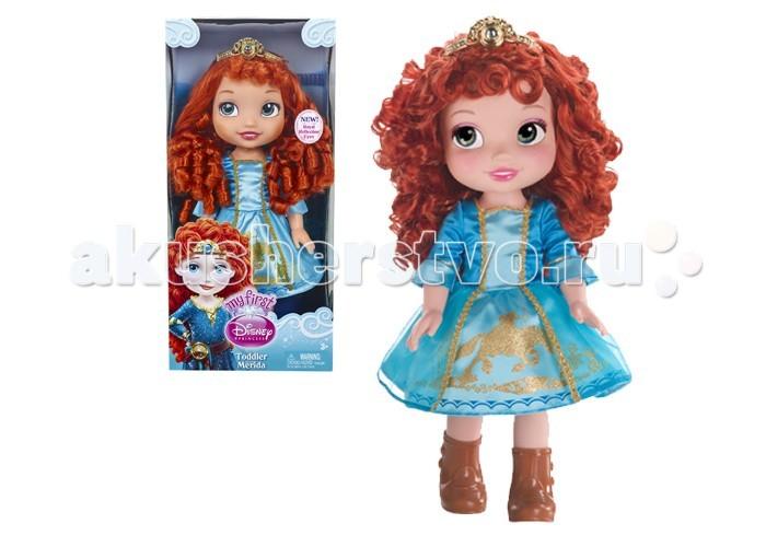 Disney Малышка 35 смМалышка 35 смКукла Disney Малышка  Маленькие принцессы Мерида и Рапунцель одеты в красивые платьица и сапожки, у каждой на голове блестящая тиара.   Особенности   У куколок шелковистые пышные волосы, из которых можно создавать самые разные прически.   Специальная технология по созданию глазок делает личики принцесс-малышек очень выразительными!  Высота кукол – 35 см.<br>