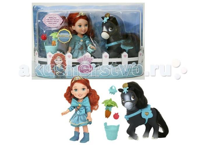 Disney Малышка с конемМалышка с конемИгровой набор Disney Малышка с конем  Теперь у маленьких принцесс есть свои собственные лошадки! Куколку можно посадить на лошадку  В наборах вас ждут куклы принцессы Дисней Золушка, Рапунцель, Мерида или Бель. У каждой из них своя лошадка, на которой принцессы могут кататься. В комплекте есть специальная еда для животных – морковка, салат, яблоки в небольшом ведерке. У лошадок красивые гривы, которые можно расчесывать с помощью маленького гребешка.  Все лошадки разного цвета, у них яркая сбруя и седло, подходящие по тону к платьям маленьких принцесс. Например, лошадь Мериды вороной масти, на ней сбруя с сердечком, а на голове красивое украшение.  Высота куколок Дисней и лошадок – 15 см.<br>