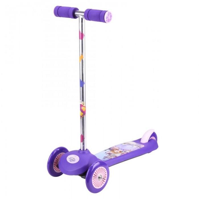 Трехколесный самокат Disney трехколесныйтрехколесныйСамокат Disney трехколесный представляет собой современный детский скоростной транспорт, сочетающий в себе скейт и классический самокат. Кикборд характеризуется наличием широкой платформы, двух передних колес и управлением ножным наклоном, что отличает его от обычного самоката.  Однако кикбордом можно управлять и классическим Т-образным рулем, выступающего в роли своеобразного джойстика. Таким образом, самокат-кикборд является чувствительным к движениям ребенка и может развивать более высокую скорость, что подарит юному кикбордисту неподдельное чувство радости и свободы.  Данный кикборд привлечет внимание ребенка благодаря современному дизайну и стильному яркому оформлению. У этого самоката-кикборда легкая металлическая конструкция, имеется ножной тормоз на заднем колесе, удобные ручки и антискользящая платформа.  Диаметр переднего колеса: 12 см.  Диаметр заднего колеса: 10 см.  Размер самоката: 56 х 12 х 66 см.<br>