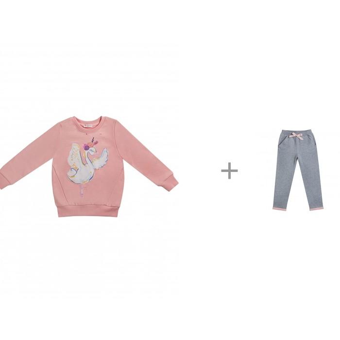 Джемперы и кардиганы, Diva Kids Джемпер для девочки Лебеди DK-165 с брюками Лебеди DK-166  - купить со скидкой