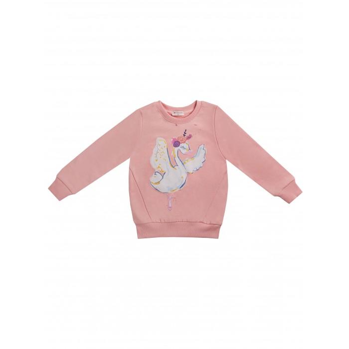 Толстовки и свитшоты, Diva Kids Джемпер для девочки Лебеди DK-165  - купить со скидкой