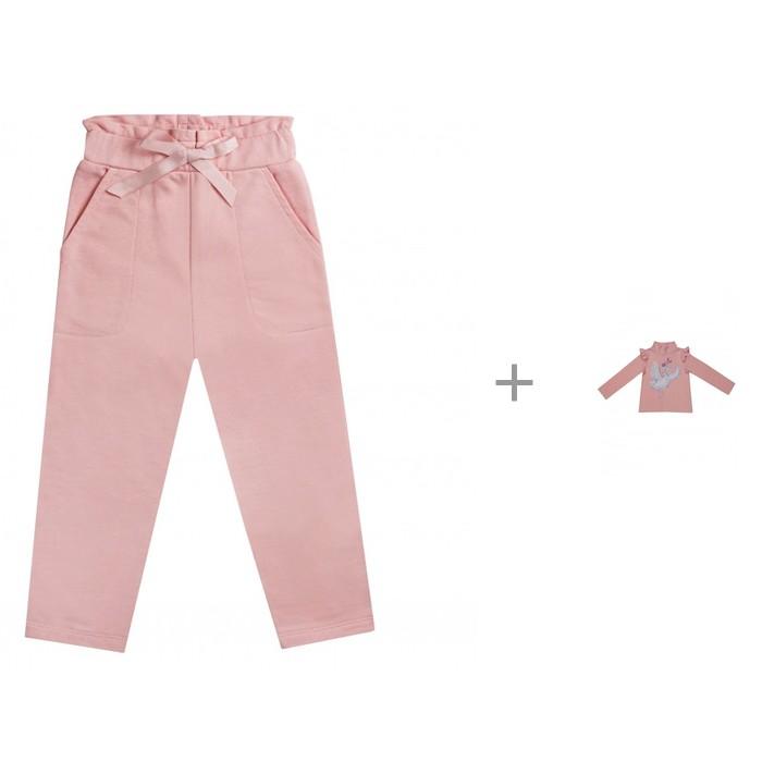 Diva Kids Водолазка для девочки Лебеди DK-172 с брюками DK-168