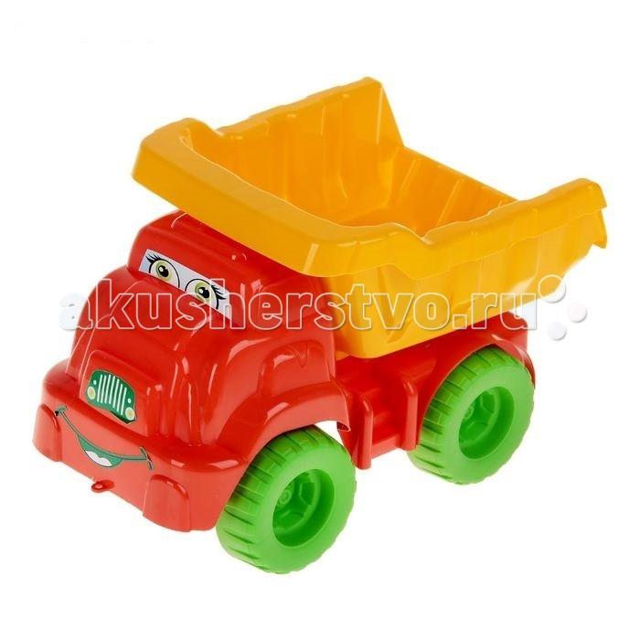 Машины Doloni Машинка Смайлик doloni поезд конструктор с двумя прицепами