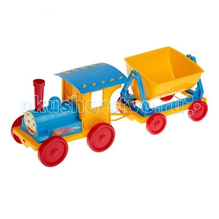 Железные дороги Doloni Поезд-конструктор c одним прицепом железные дороги play smart скоростной поезд молния