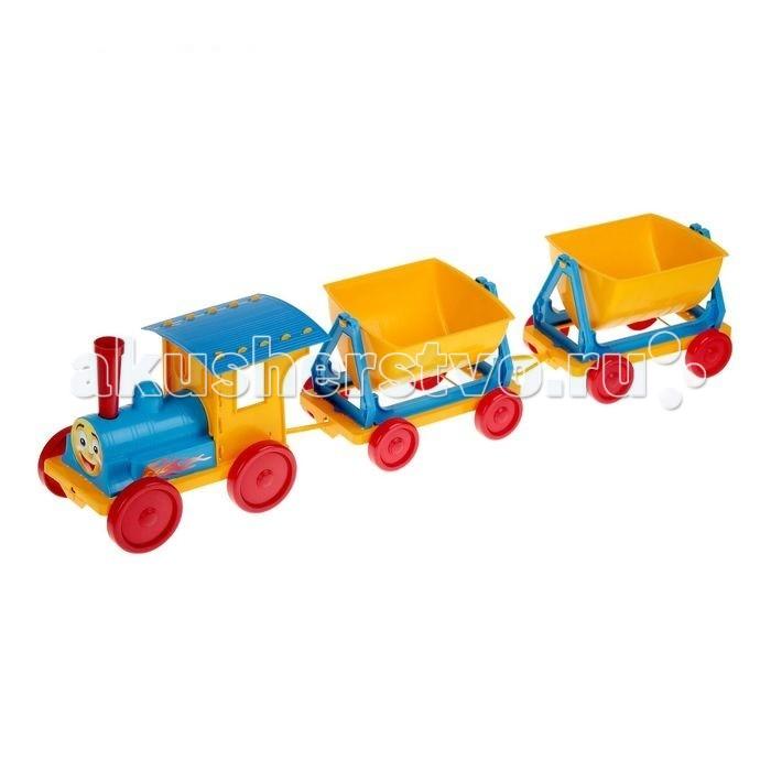 Железные дороги Doloni Поезд-конструктор с двумя прицепами doloni поезд конструктор с двумя прицепами