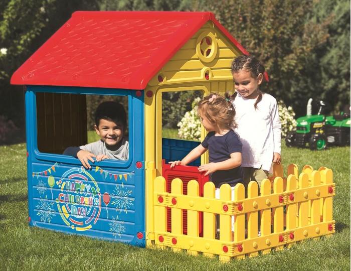Купить Игровые домики, Dolu Игровой домик для улицы с ограждением 3013