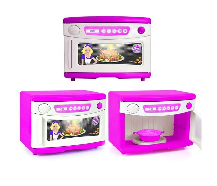 Ролевые игры Dolu Игрушечная микроволновка с аксессуарами ролевые игры dolu игрушечная стиральная машинка