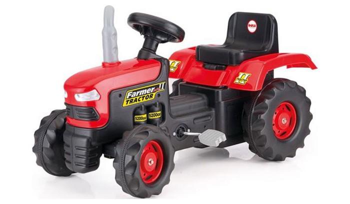 Dolu Педальный тракторПедальный тракторDolu Педальный трактор - на таком мощном агрегате ваш ребенок будет представлять себя известным фермером, который с удовольствием объезжает свои владения на новеньком красно-черном тракторе. Чтобы привести эту серьезную машину в действие, достаточно только вращать педалями, как на простом велосипеде и управлять рулем.  Особенности: Данное транспортное средство представляет собой педальный трактор, выполненный в красно-черной цветовой гамме Управлять трактором достаточно просто, для этого имеются педали, как на велосипеде, а также круглый, вращающийся руль. С этой игрушкой смогут справиться дети в возрасте от 3 лет Колеса приводятся в движение посредством цепного привода Машина изготовлена из высококачественного пластика, устойчивого к прямым солнечным лучам и выгоранию Удобное черное сиденье со спинкой позволит малышу разместиться с комфортом Трактор ездит на 4 колесах с крупным рисунком протектора, задние колеса имеют больший диаметр, чем передние. Они выполнены из ударопрочного пластика и могут преодолевать даже каменистую местность Катаясь на таком тракторе, ребенок сможет представить себя в роли настоящего фермера, развить координацию движений, моторику рук, научится хорошо крутить педали и ориентироваться в пространстве<br>