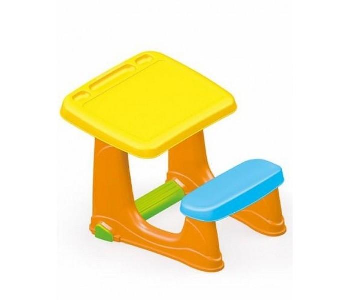 Dolu Парта со скамейкойПарта со скамейкойDolu Парта со скамейкой представляет собой одноместную парту соединенную со скамейкой. Под партой присутствует удобная подставка под ноги. Изготовлена из прочного и качественного пластика, который не электризуется и не вызывает аллергических реакций.  Особенности: эргономичная подставка для ног удобные отсеки для хранения канцелярских принадлежностей на поверхности стол и стул крепятся друг к другу размеры парты: 49 x 59 x 72 см<br>