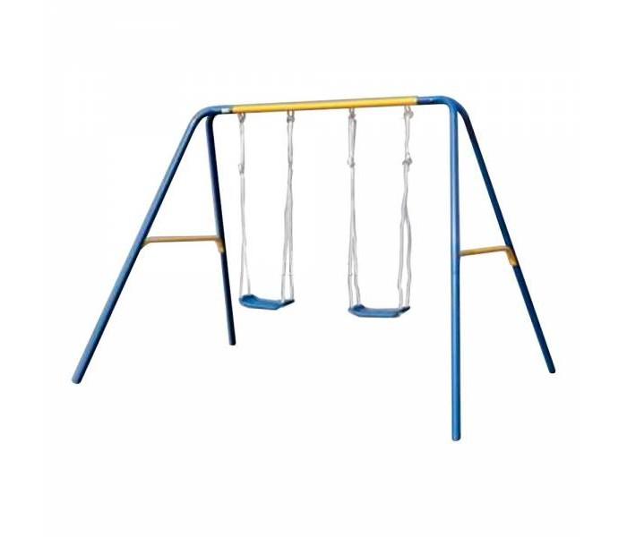 Качели Dondolandia металлические 215 смметаллические 215 смКачели Dondolandia металлические 215 см - это очень прочные, безопасные и устойчивые качели, которые можно устанавливать как дома, так и на улице. Пластиковое сиденье снабжено барьером безопасности, поэтому качели можно использовать для детей от 18 месяцев.  Конструкция из стали, покрытие — полиэстер.  Максимальный вес: 80 кг (2 x 40 кг)<br>