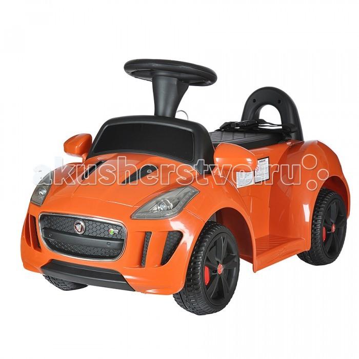 Электромобиль Dongma Jaguar F-TypeJaguar F-TypeDongma Электромобиль Jaguar F-Type— электроминикар, оснащенный всем необходимым, чтобы малыш почувствовал себя настоящим водителем. Несколько скоростей, ремень безопасности, звуковые эффекты, светодиодные огни — автомобиль несомненно порадует маленького Шумахера и не даст ему заскучать.  Особенности: Изготовлен из высококачественного ударопрочного пластика Колеса из пластика Одно посадочное место Ремень безопасности Запуск двигателя кнопкой Амортизаторы на задней оси Светодиодные передние фары Несколько скоростей: 3 — вперед, 1 назад (максимальная — 3 км/ч) Звуковые эффекты Разъем и провод для МР3-устройств: можно слушать музыку Пульт дистанционного управления типа Bluetooth Источник питания — батарея напряжением 6V (работает 70-80 минут) Источник питания для пульта — 2 батарейки типа ААА Максимальный вес ребенка: 30 кг<br>