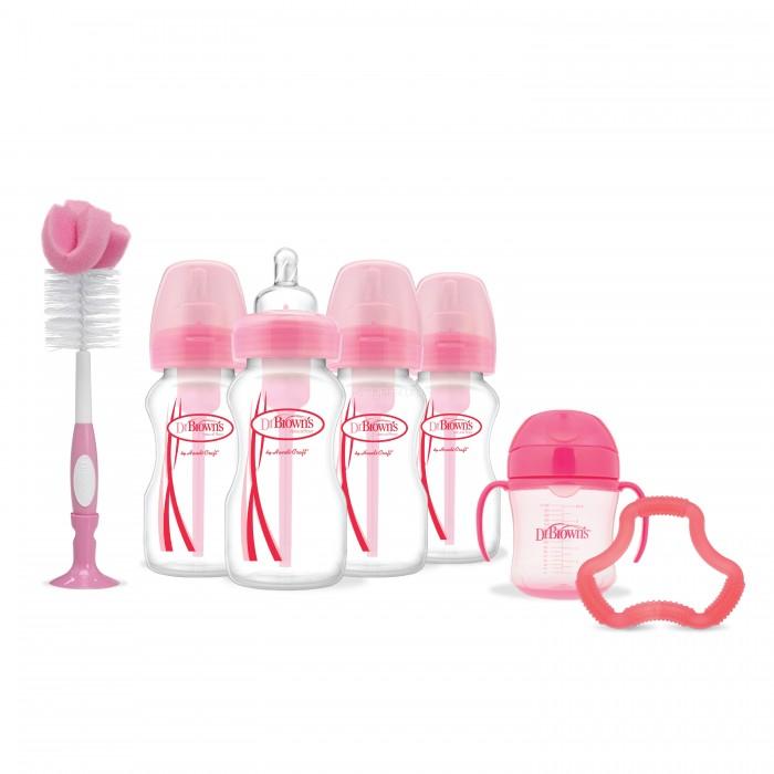 Наборы для кормления Dr.Browns Набор антиколиковых бутылочек с широким горлышком Flexees 4х270 мл, Наборы для кормления - артикул:517686
