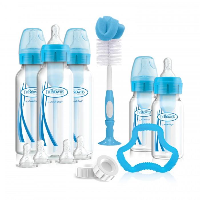 Наборы для кормления Dr.Browns Набор антиколиковых бутылочек с узким горлышком 5 шт 3х250 мл, 2х120 мл, Наборы для кормления - артикул:466546