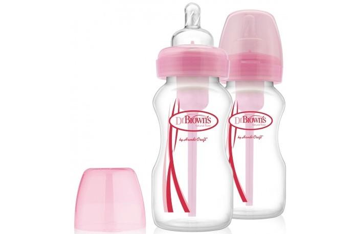 Аксессуары для кормления , Бутылочки Dr.Browns Набор Options с широким горлышком 2 шт. 270 мл арт: 223609 -  Бутылочки