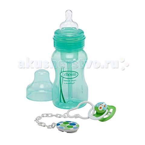 Аксессуары для кормления , Наборы для кормления Dr.Browns Набор бутылочка 240 мл + пустышка PreVent арт: 23826 -  Наборы для кормления