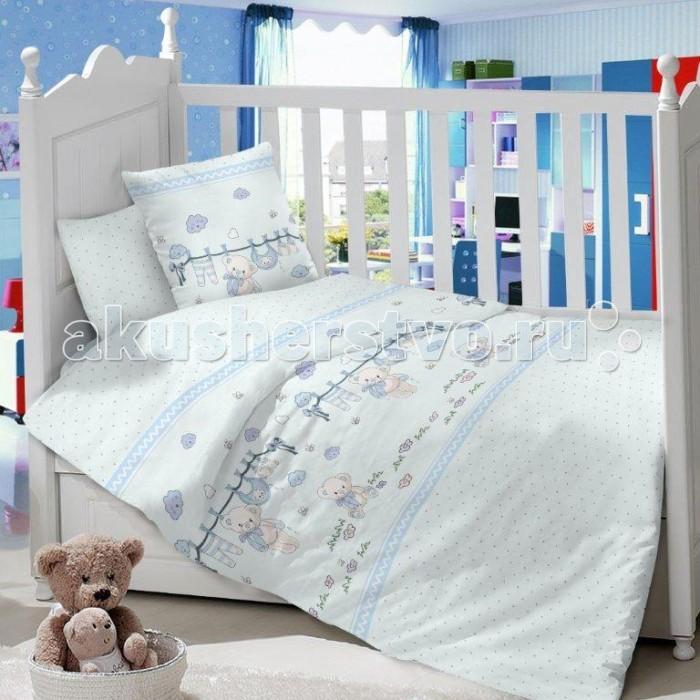 Комплект в кроватку Dream Time Мишка (3 предмета)Мишка (3 предмета)Комплект в кроватку Dream Time Мишка (3 предмета), состоящий из наволочки 40х60 см, простыни 110х150 см и пододеяльника 110х145 см, выполнен из качественной ткани, специально для детских кроваток.   Комплект рассчитан специально для малышей от 0 до 4 лет. Сатин прочная и плотная ткань с диагональным переплетением хлопковой нити. Несмотря на повышенную плотность, этот материал отличается необыкновенной мягкостью и шелковистой фактурой.   Высокая плотность материала обеспечивает его долговечность и способность выдерживать многочисленные стирки на протяжении многих лет. Белье при этом продолжает оставаться все таким же ярким и привлекательным, поскольку ткань не линяет, не скатывается и не садится.   Такой комплект идеально подойдет для кроватки вашего малыша. На нем ребенок будет спать здоровым и крепким сном. Тон изделия может незначительно отличаться от изображения.<br>