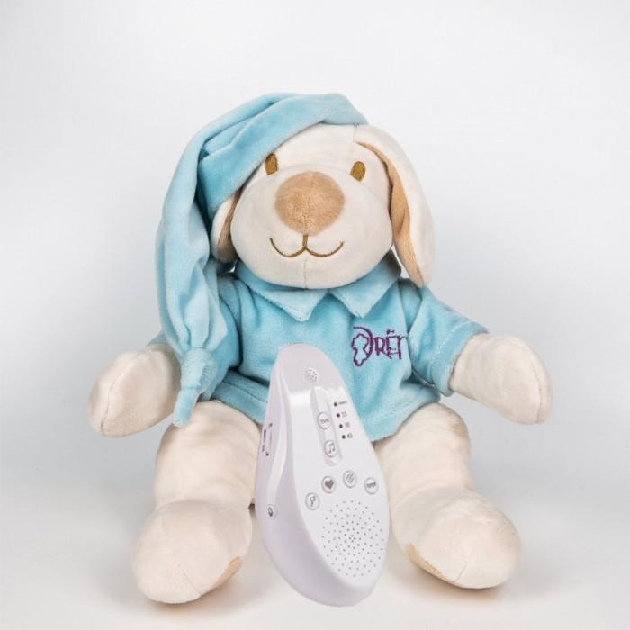 Купить Мягкие игрушки, Мягкая игрушка Drema BabyDou для сна Собачка с белым и розовым шумом