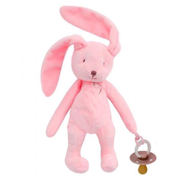 Фото - Комфортеры Drema BabyDou Игрушка с держателем для соски Зайчик комфортеры drema babydou медведь с белым и розовым шумом 20 см