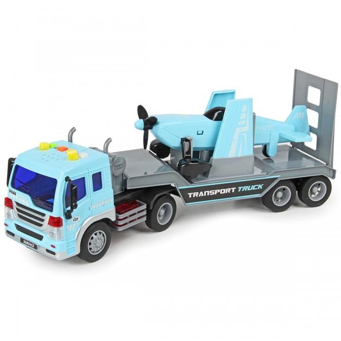 Машины Drift Автовоз с самолетом Transport Truck 1:16