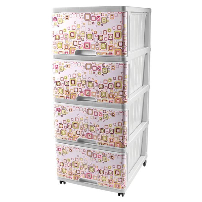 Dunya Комод 4 ящика с рисунком