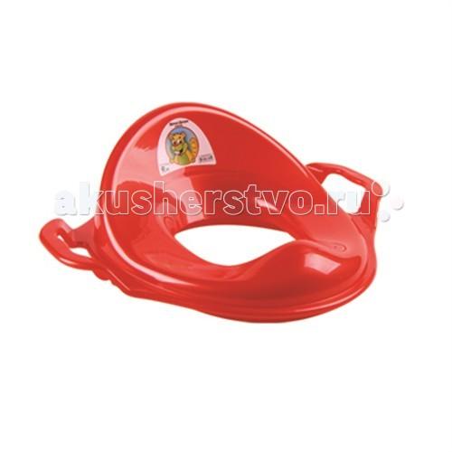 Сиденья для унитаза Dunya Plastik Накладка на унитаз (адаптер) с ручками контейнер dunya plastik цвет прозрачный салатовый 2 5 л