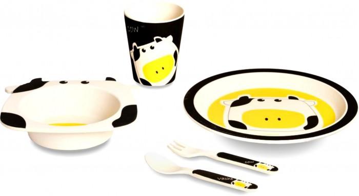 Eco-baby Бамбуковая посуда для детей Буренка