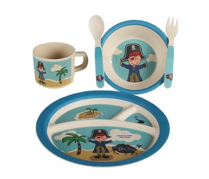 Eco-baby Бамбуковая посуда для детей Пираты