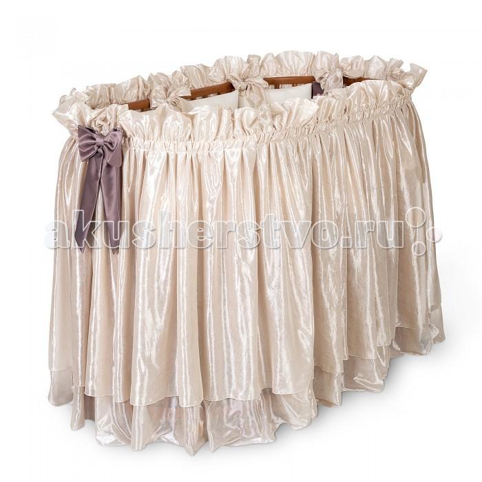 Аксессуары для мебели Eco Line Юбка для круглой кроватки Benita