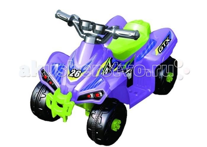 Электромобиль Еду-Еду GTX ZP-5353AGTX ZP-5353AЕду-Еду Электроквадроцикл GTX ZP-5353A предназначен для детей от 2 до 4 лет.   Несомненно понравится Вашему ребенку с первой минуты. Сделан из качественных материалов: металла и пластика, Подойдет для любого времени года. Имеется ручное переключение хода вперед - назад. На пластиковых колесах есть резиновый уплотнитель для более плавного хода и хорошего сцепления с дорогой.   Работает от аккумулятора 6 В, 4,5 А/часов.  Время работы от одного заряда батареи 1-1.5 часа. Размер: 66 x 45 x 49 см<br>
