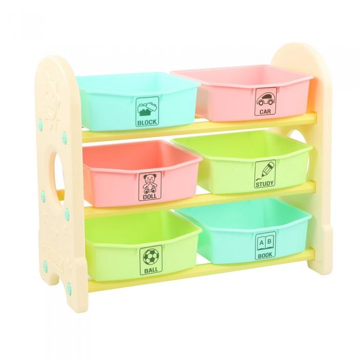 Купить Ящики для игрушек, Edu-Play Стеллаж для игрушек с ящиками 3 полки 76х36х65.5 см