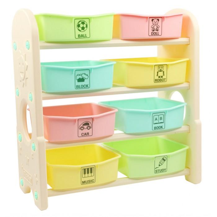 Купить Ящики для игрушек, Edu-Play Стеллаж для игрушек с ящиками 4 полки 76х36х80.5 см