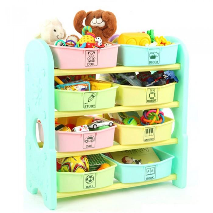 ящики для игрушек Ящики для игрушек Edu-Play Стеллаж для игрушек с ящиками 4 полки 76х36х80.5 см