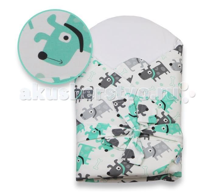 Демисезонный конверт Eko Плед для новорожденных сатиновый с бантом 75x75 RO-15