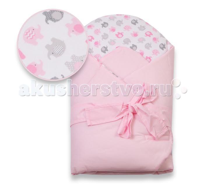 Демисезонный конверт Eko Плед для новорожденных сатиновый с бантом 75x75 RO-16