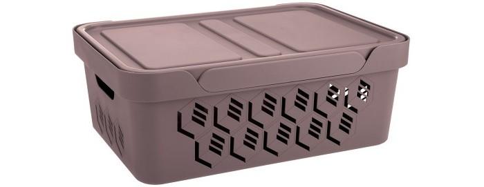 Картинка для Хозяйственные товары Эконова Ящик универсальный с крышкой Deluxe 12 л