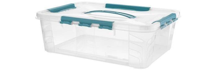 Картинка для Хозяйственные товары Эконова Ящик универсальный с замками и ручкой Grand Box 10 л