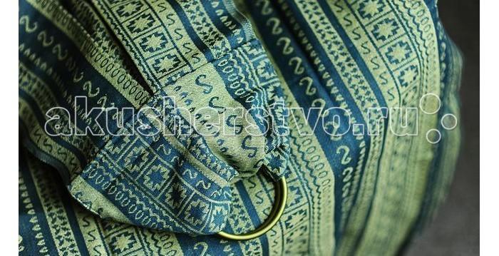 слинги ellevill paisley с кольцами бамбук лён m 2 1 м Слинги Ellevill Zara с кольцами, хлопок M (2.1 м)