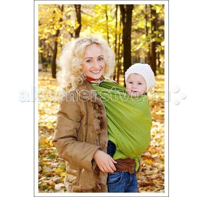 слинги ellevill paisley с кольцами бамбук лён m 2 1 м Слинги Ellevill Zara шарф, хлопок (4.2 м)